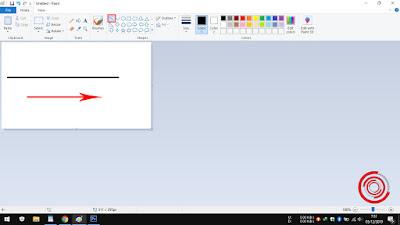 3. Kemudian silakan kalian tarik garis lurus sesuai yang ingin kalian inginkan. Baik Horizontal ataupun Vertikal. Dan pastikan sudah lurus sebelum kalian melepas tekanan di mouse