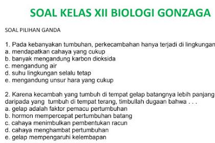 Download Latihan Soal UAS Biologi Kelas XII Semester 1