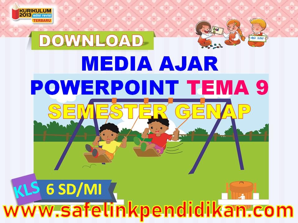 Media Ajar Powerpoint Tema 9 kelas 6