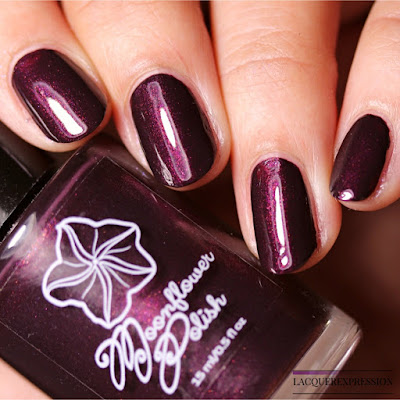 Nail polish swatch and review of Moonflower Polish first year anniversary polish Sunset