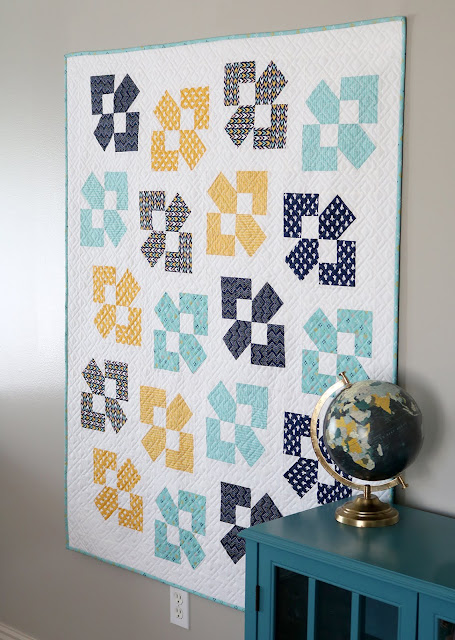 Lucky Duck quilt pattern - a Layer Cake or Fat Quarter pattern in five sizes by Andy of A Bright Corner