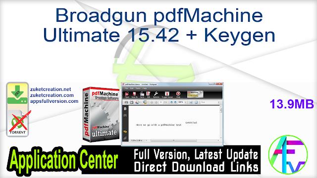 Broadgun pdfMachine Ultimate 15.42 + Keygen