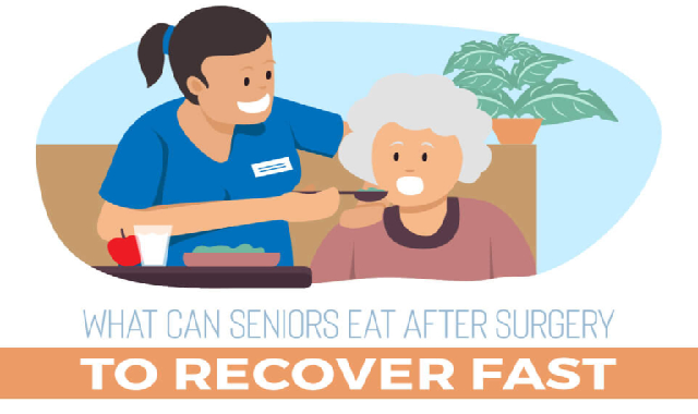 What Can Seniors Eat After Surgery to Recover Fast #infographic
