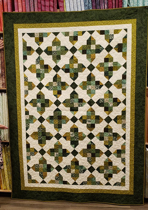 Pirouette Quilt designed by Cozy Quilt Designs for Jordan Fabrics