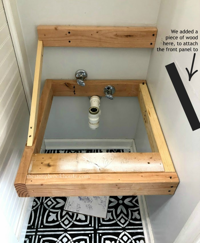 Freestanding laundry tub frame