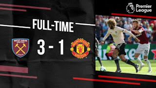West Ham vs Manchester United 3-1 Highlights