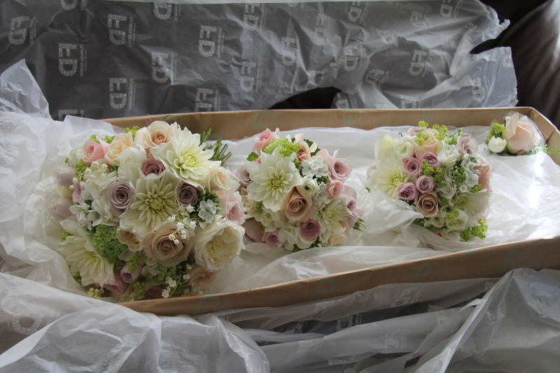 wedding bouquets for brides amp kiefer s pale green sea foam amp soft blush pink 8509