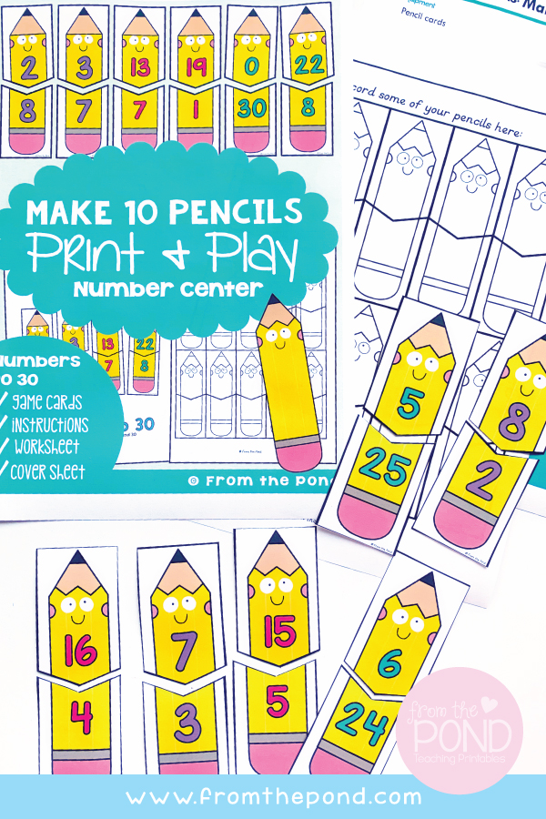 Make 10 Pencils Math Game