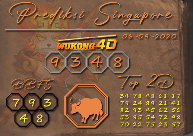 Prediksi Togel SINGAPORE WUKONG4D 06 SEPTEMBER 2020