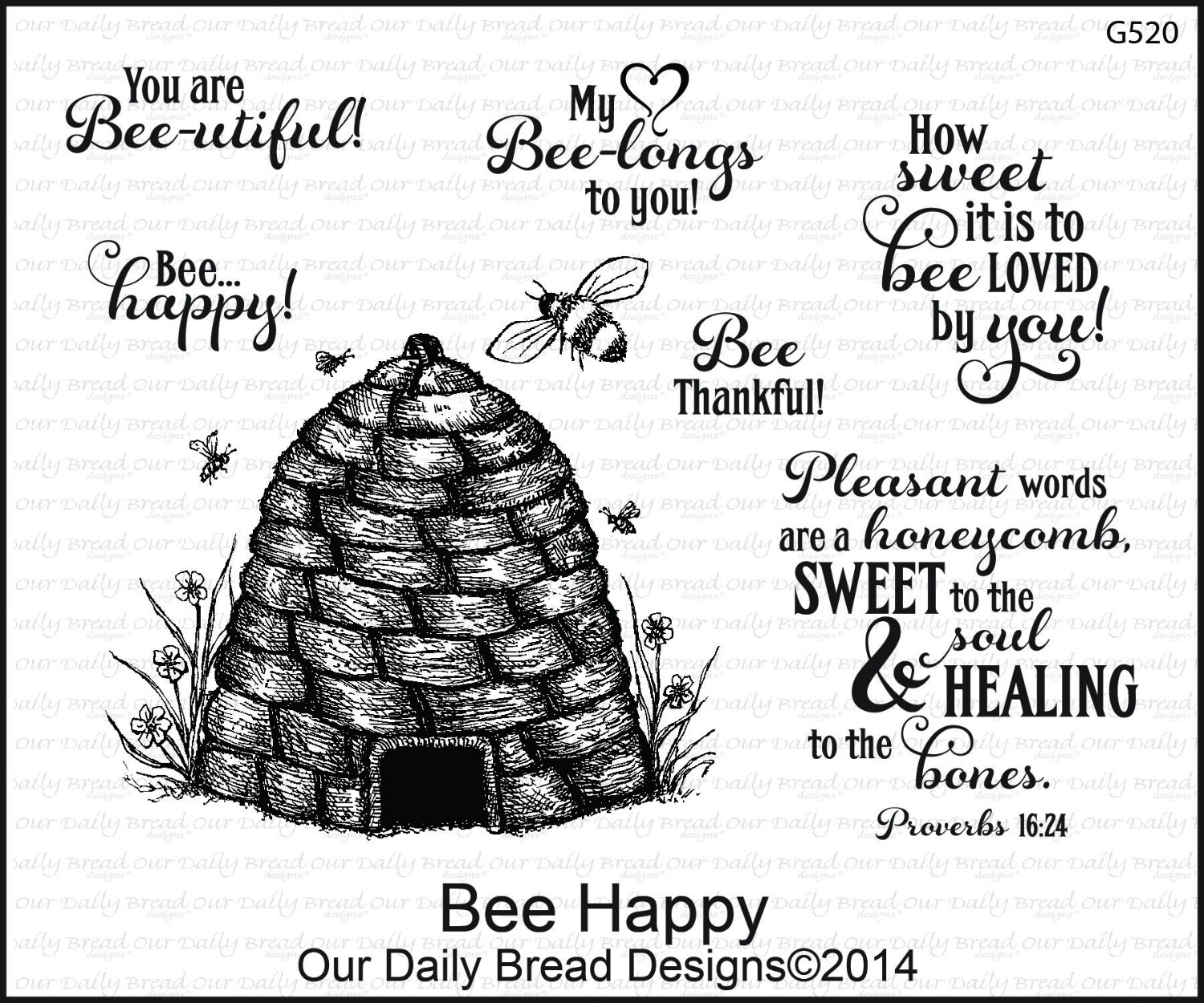 Stamps - Our Daily Bread Designs Bee Happy