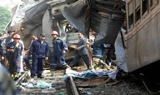 حادث اخر اليوم اصابة 6 في تصادم قطار بسيارة نقل بمطروح