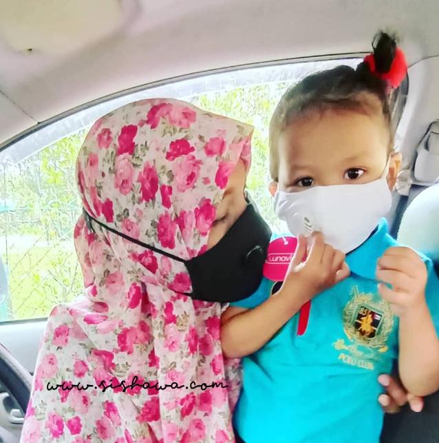 Lunavie Anti Bacterial 3D Face Mask : Peneman Bagus Ketika Bercuti Dengan Anak Kecil