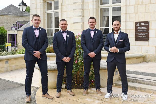 photos du mariés et ses témoins