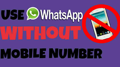 Use WhatsApp without revealing your real Number