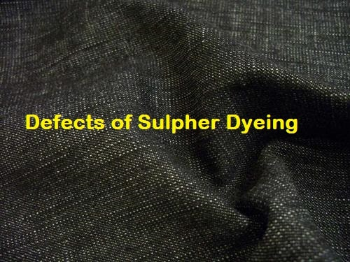 Sulpher dyed fabric