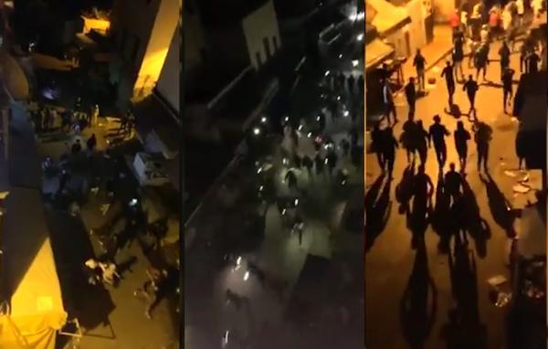 """كارثة بالدار البيضاء...شبان متهورون يخرجون في مسيرة ليلية حاشدة """"احتفالا بكورونا"""""""