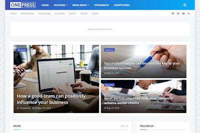 ONEPRESS Premium Blogger Templat