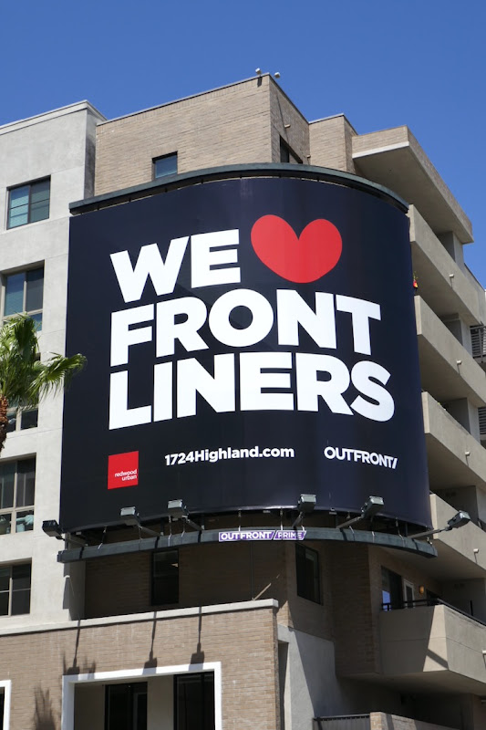 We Love Front liners Outfront billboard