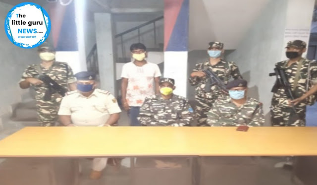 पुलिस व एसएसबी टीम की कार्रवाई में मधुबन नक्सली हमले का फरार आरोपी गिरफ्तार