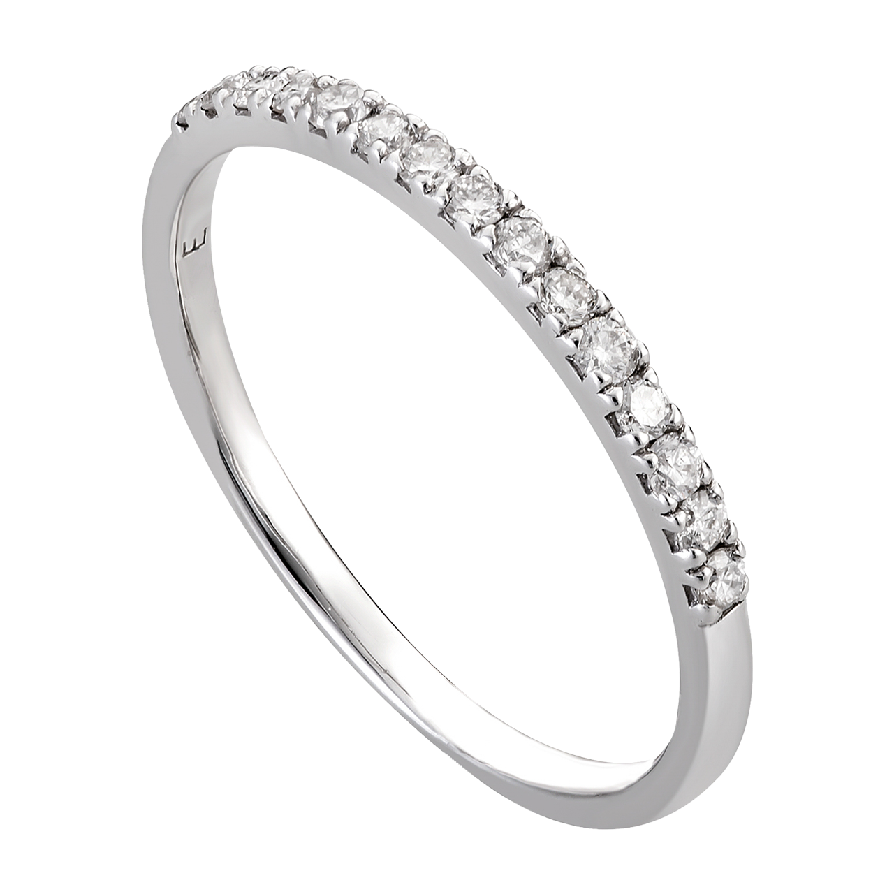 Nhẫn Kim cương Vàng trắng 14K PNJ DD00W000343