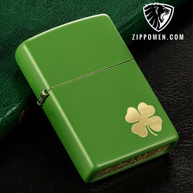 Zippo cỏ bốn lá - MS 21032 | Zippo Hà Nội | Zippo Men