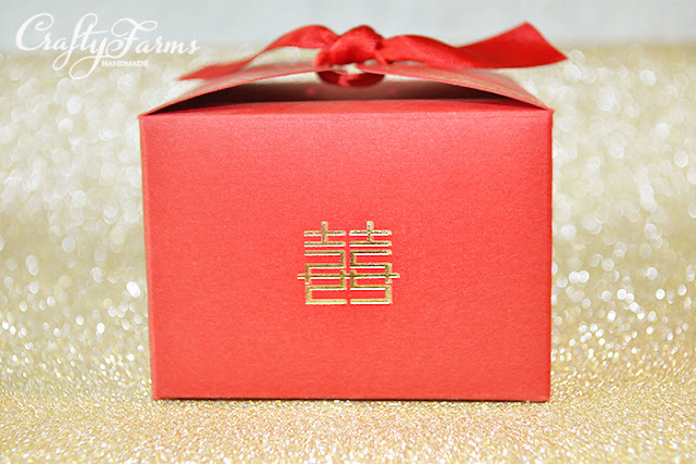 Double Happiness Red Wedding Favour Boxes, Ipoh, Perak