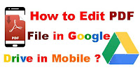 How to Edit PDF File in Google Drive in Mobile?