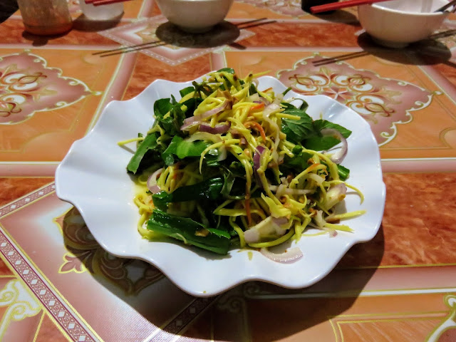 Green mango salad with Siem Reap Food Tours in Cambodia