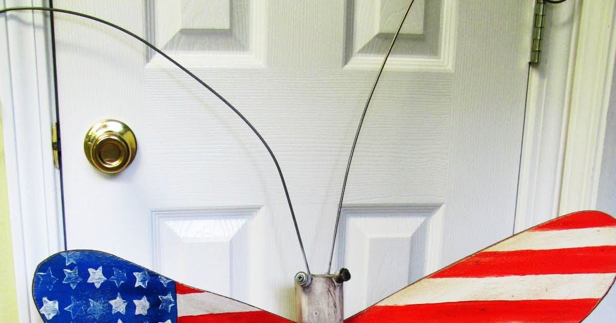Dragonfly Art Table Leg Dragonfly Patriotic Flag