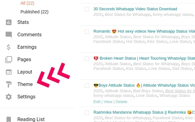 How to make a Whatsapp Status Website in blogger?
