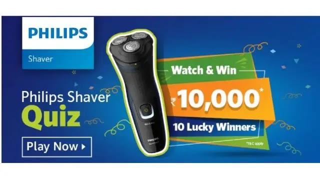 Amazon Philips Shaver QUIZ – Answers & Win ₹10000