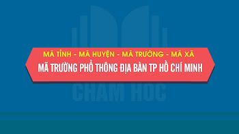 Mã tỉnh, thành phố, Mã quận, huyện, Mã trường phổ thông địa bàn Tp Hồ Chí Minh