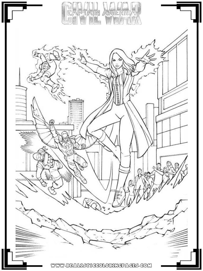 Marvel Civil War Coloring Pages Coloring Pages