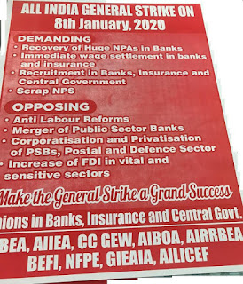 ALL INDIA GENERAL STRIKE ON 8th January, 2020 - Confederation