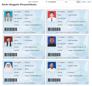 Simpus-cetak kartu anggota