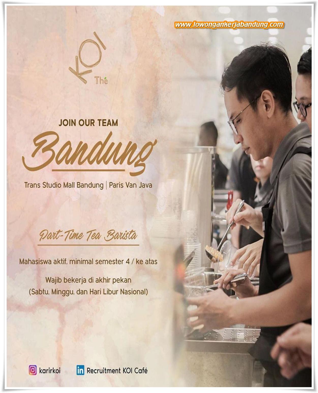 Lowongan Kerja Part Time Barista Koi Cafe Bandung Lowongan Kerja Bandung Lowongankerjabandung Com