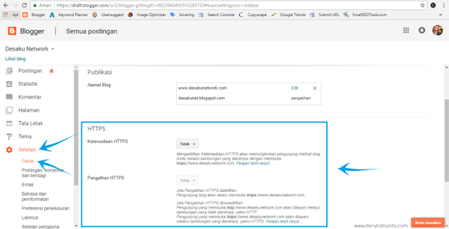 Cara Mengaktifkan HTTPS (SSL) di Blogger