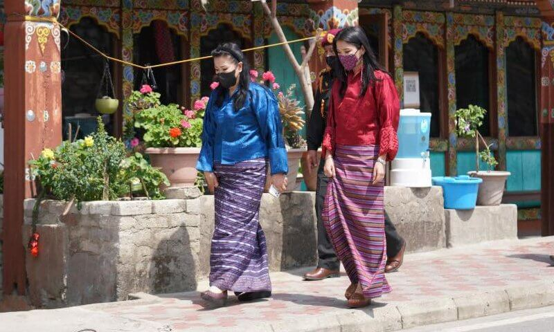King Jigme Khesar Namgyel Wangchuck, Queen Jetsun Pema, Prince Jigme Namgyel and Prince Ugyen