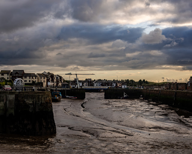 Phot of Maryport Harbour at low tide