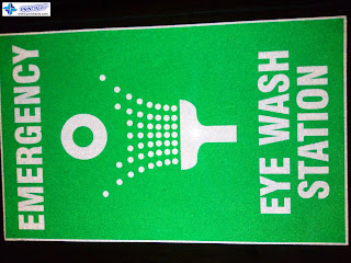 Emergency Eye Wash Station - Reflective Safety Sign
