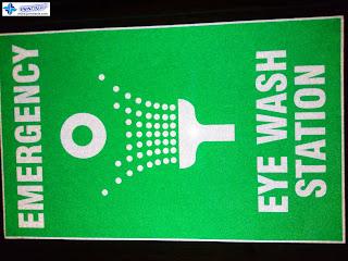 Emergency Eye Wash Station Signs