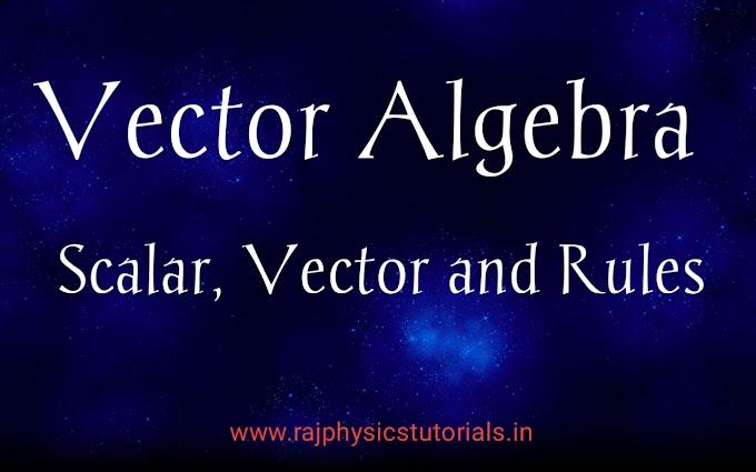 Vector Algebra || Vector Algebra Laws || CSIR NET/JRF, IIT JAM, GATE, JEST,TIFR,SET,DU,BHU,JNU Physics Entrance Exams Study materials