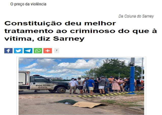 O hipócrita lamento de Sarney e a resposta do internauta