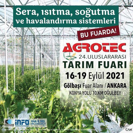 AGROTEC 24. Uluslararası Tarım Fuarı 2021