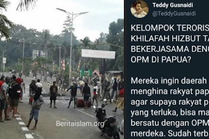 Aktivis Papua Bantah Tudingan Pendukung Jokowi Sebut Rusuh Papua Didalangi HTI & Islam Radikal