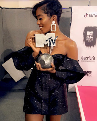 Tiwa Savage wins best African Act at the 2018 #MTVEMA