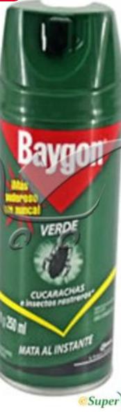 Baygon Aerosol Multi Insect Killer Mosquito Flies Cockroaches Bedbug Killer 250ml