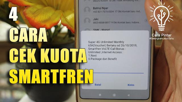 Cara Cek Kuota Smartfren Unlimited 4G harga 65 Ribu