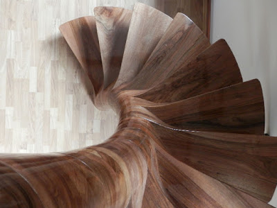 wooden stairscase
