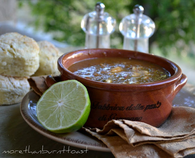 black bean soup and tender potato biscuits